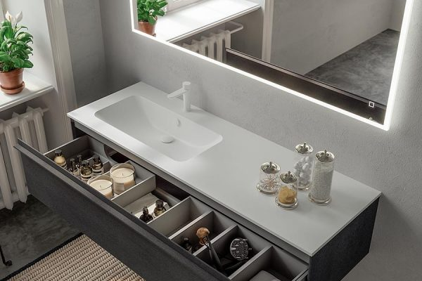 Berloni-Bagno-collezioni-piani-lavabo-cassetto-aperto