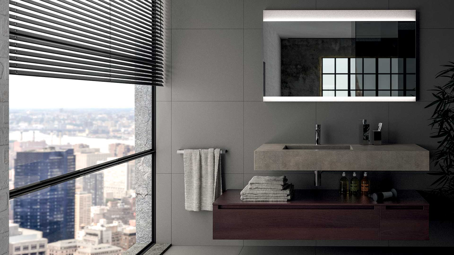 Come illuminare un bagno utilizzando lo specchio